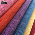 Sofa Cushion Set Coarse Linen Table Cloth Pillow Solid Color Soft Bag Diy Fabric