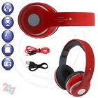 Wireless Foldable Bluetooth Stereo Red Headphone Handsfree Call BuiltIn Mic S247
