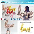"""40"""" Handwriting LOVE Foil Balloons Wedding Proposal Marriage Decor Rose Gold Red"""