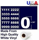 "Set Of 4 Vinyl MailBox, toolbox,lockers 1.75"" Decals Stickers - 40 numbers sheet"