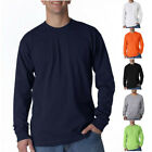 Bayside USA-Made Mens Tees Tops Crew 100% Cotton Long Sleeve T Shirt image