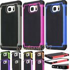 for samsung galaxy S6 case rugged hybrid 3 layer s 6 black hot pink red green/
