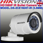 Hikvision DS-2CE16D0T-IR HD Mini Bullet 1080p 3.6mm Outdoor Nightvision Camera