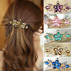 Women Jewelry Fashion Crystal Rhinestone Flower Barrette Clip Hairpin Pinchcock