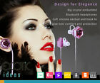 Jewelry Crystal Dual Bluetooth Headsets Headphones HD Sound Silicone Bud + Hook