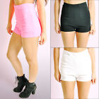 Ladies Womens High Waisted Hot Pants Summer Shorts One Size New