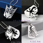 Fashion Jewelry Fine Stainless Steel Superman Transformers Pendant Necklaces