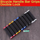 BICYCLE HANDLE BAR GRIPS DOUBLE LOCK ON LOCKING BMX MTB MOUNTAIN BIKE CYCLE GRIP