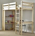 3FT Single High Sleeper HEAVY DUTY Study Loft Bunk Bed   (EB29)