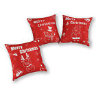 Set of 3 CaliTime Pillows Shell Cushion Covers Combo Set Merry Christmas 45x45cm
