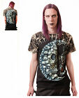 Gothic Skull Moon Sandtimer T - Shirt With Rivets Size M, L