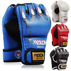 Half Finger Sparring Boxing Training Gloves MMA Punching Leather  Mitts