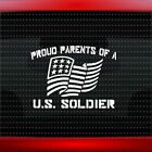 Proud Army Parents #1 Car Decal Window Vinyl Sticker Mom Dad Soldier 20 COLORS!