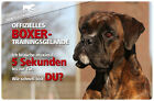 ! DEUTSCHER BOXER ! Metall Warnschild .08