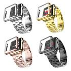 Milanese Magnetic Loop Stainless&Leather Steel Watch Band Strap for Apple iWatch