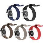 For Apple Watch Magnetic Buckle Genuine Leather Loop Watch Band iWatch Strap