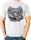 Hot Rod T Shirt Vintage Drag Race Rat Rod Skull Flames Small to 6XL and Tall