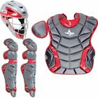 All-Star System 7 Intermediate Camo Catcher Set (Ages 12-16) New Gray Scarlet