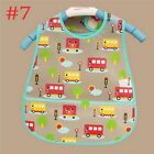 Kids Pattern Turn Kid Infants Translucent Feeding Bibs Towel Waterproof Baby