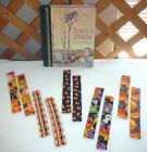 BOOKMARKS~HALLOWEEN~Set Of 2~Fabric~Reversible~Washable~NEW~FREE SHIP