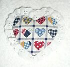MAGNETS~VALENTINE'S DAY~HEARTS~Fabric & Eyelet~NEW~FREE SHIP