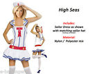 Ladies New White Sailor Sailor Sea Fancy Dress Outfit Hen Night Party Adult
