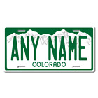 Personalized Colorado License Plate for Bicycles, Kid's Bikes & cars Ver 1