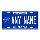 Personalized Indiana License Plate for Bicycles, Kid's Bikes & Cars Ver 1