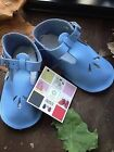 *NEW* BABY SHOES SOFT SOLE FRENCH LEATHER HANDMADE IN FRANCE BLUE COLOUR