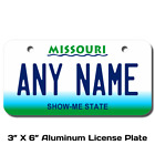 Personalized Missouri License Plate for Bicycles, Kid's Bikes & Cars Ver 1