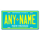 Personalized New Mexico License Plate for Bicycles, Kid's Bikes & Cars Ver 3