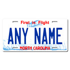 Personalized North Carolina License Plate for Bicycles, Kid's Bikes & Cars Ver 1