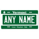 Personalized Vermont License Plate for Bicycles, Kid's Bikes & Cars Ver 1