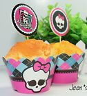 12 sets MONTER HIGH CUPCAKE WRAPPERS & TOPPERS - AUS stocks Fast delivery