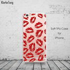 Custom KISSES Lips Hearts Ladies Fashion Rebel Women love Tpu Gel Case Cover