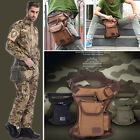 Men Canvas Tactical Army Motorcycle Riding Hip Fanny Pack Waist Thigh Leg Bag