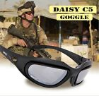 Daisy C5 Military Goggles Polarized 4 Lenses Hunting Sunglasses Desert Storm