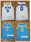 Russell Westbrook #0 UCLA College Bruins Men Basketball Jersey White Blue