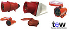 Red 415v 32 Amp 5 Pin Industrial Plug & Sockets Ip44 3 Phase 3p+n+e