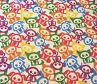SKELETON DOGS MULTI QUILT SEWING FABRIC *Free Oz Post