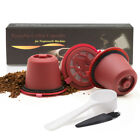 Coffee Pods KCups - BRBHOM Reusable Nespresso Coffee Capsules Refillable Coffee Pod Stainless Filter