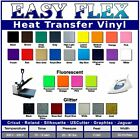 EASY FLEX Heat Transfer Vinyl - ALL COLORS and SIZES - Sticky for T-Shirts