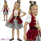 Girls Deluxe Pirate Costume Child Caribbean Captain Fancy Dress Book Day Outfit