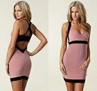 New HONOR GOLD Backless BNWT £45 Bodycon Club Evening Party Mini Bodycon Bandage