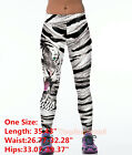 Womens YOGA Workout Gym Stretch Print Sports Pants Leggings Fitness Trouser