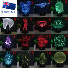 Pokemon Star Wars 3D Acrylic LED Night Light 7 Color Table Desk Lamp Home Gift $28.98 AUD