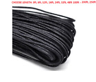 2mm Black Waxed Cotton Cord For DIY Bracelet/Necklace Jewery Making.3ft-250ft