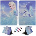 Cartoon Princess Flip Stand Cover Cases PU Leather For 7/8/1