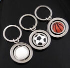 New3 Style 3D Sports Rotating Keychain Keyring Key Chain Ring Key Fob Ball Cool