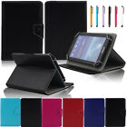 7 inch universal folio leather stand case